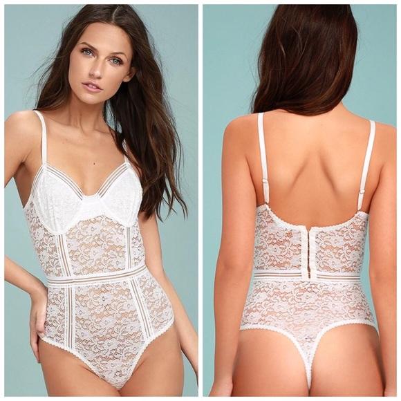 1dd816b24f55 Honey Punch Tops | Nwt Sexy White Lace Bodysuit | Poshmark